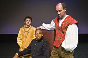 Left to right: Raphe Makarewicz, Cameron Davis and Andrew Borba, who plays the title character, will star in Shakespeare Festival St. Louis' production of Richard III in Forest Park. 2008 300 pxls