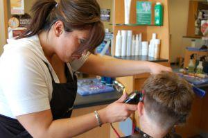 2008. person getting haircut. 300 pixels
