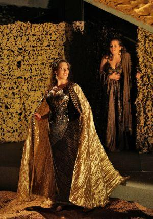 Troilus and Cressida Ellie Dehn as Cressida with Elizabeth Batton as Evadne. 2008 300 pixels