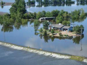 This levee was overtopped in western St. Charles County on June 20, 2008. Many houses were built on berms after 1993. 300 pixels