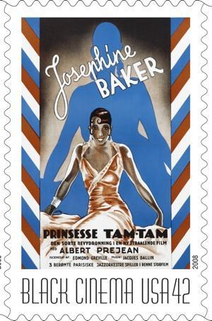 postage stamp honoring Josephine Baker. 2008. 300 pixels
