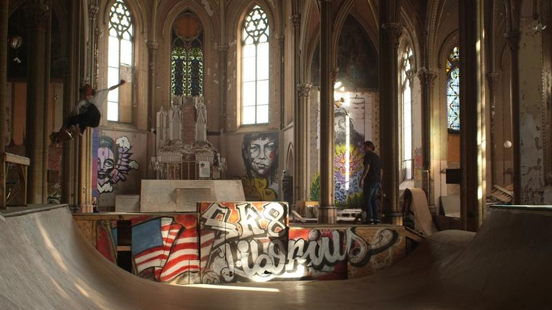 It took several years for members of St. Louis' skating community to renovate the old St. Liborius church. A company called Hogan Street Partners owns the building; a nonprofit called Liborius Urban Arts Studios operates the space.