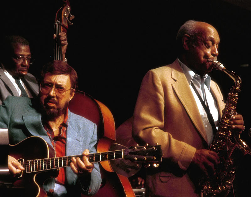 Barney Kessel (g) Major Holley and Benny Carter (not heard on this show)-1989