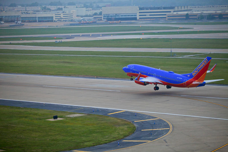 A Southwest Airlines jet in St. Louis