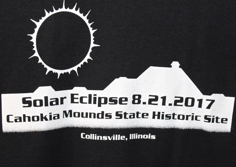The gift shop at the state historic site is selling commemorative T-shirts but is out of eclipse glasses. August 11 2017
