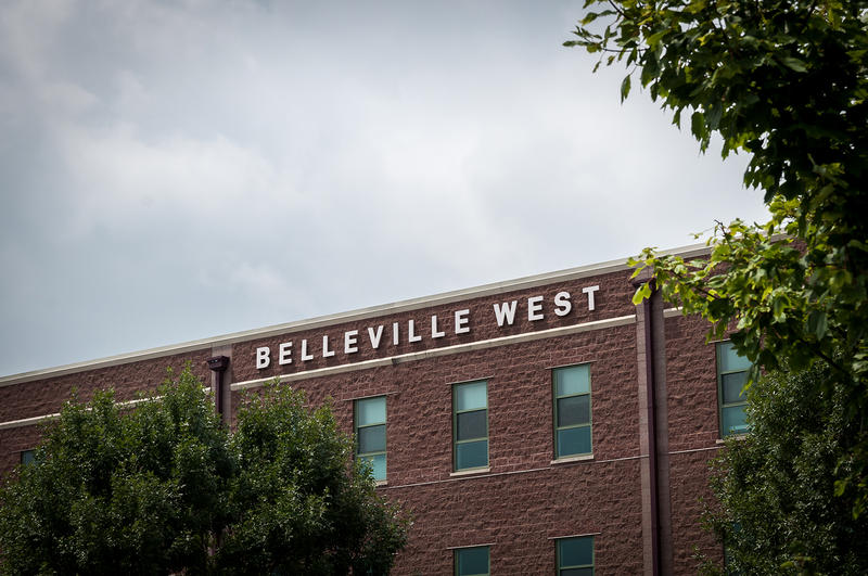 Belleville West High School is about 10 miles west of East St. Louis Senior High.
