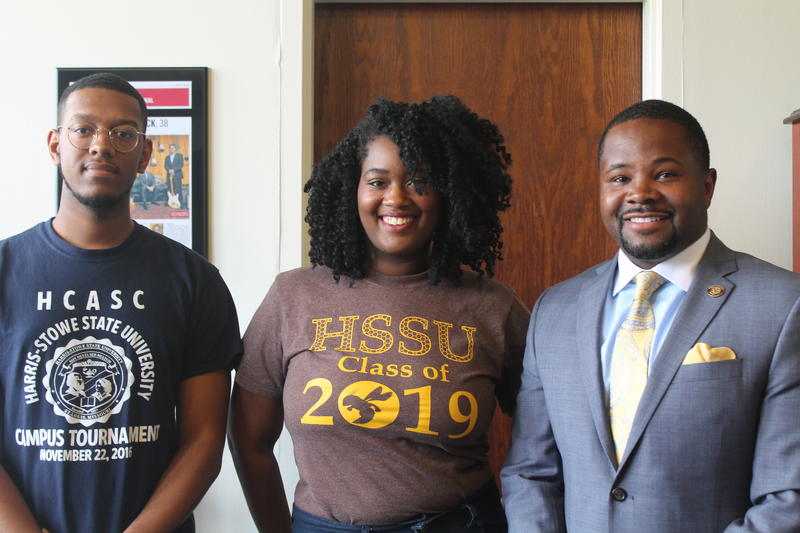 Harris-Stowe State University students Aaron Betite, Erica Wise and University President Dwaun Warmack discussed the role of HBCUs in the spectrum of higher education with Alicia Lee.