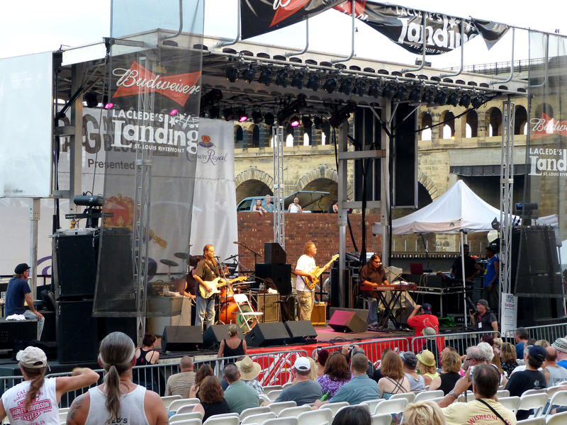 Walter Trout plays at the main stage of the Big Muddy Blues Festival in St. Louis on Sept. 1, 2013.