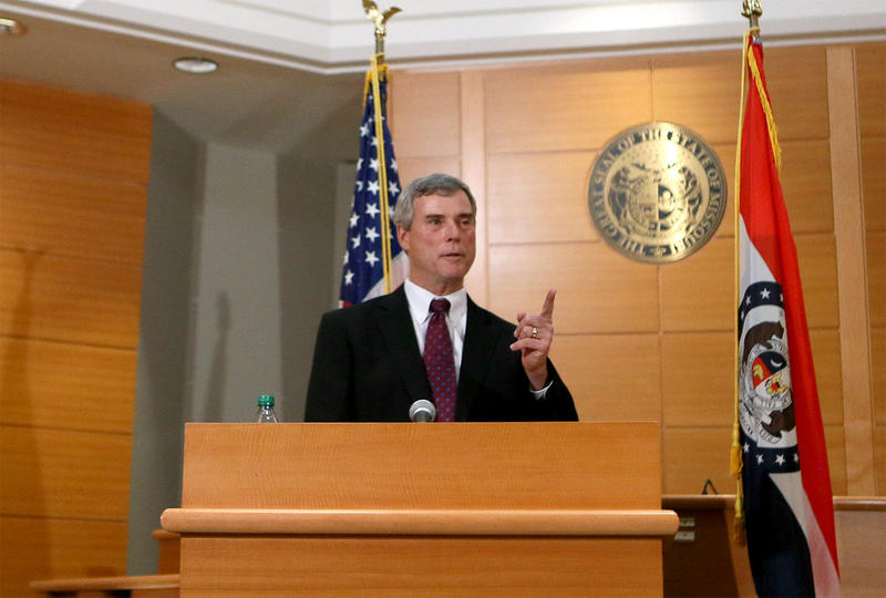 St. Louis County prosecutor Bob McCulloch announceson Nov. 24, 2014, that a grand jury has chosen not to charge Darren Wilson in Michael Brown's death.