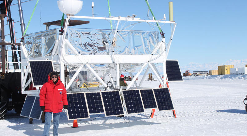 The SuperTIGER detects cosmic rays, high-energy radiation that's produced from supernovas. Researchers at Washington University and NASA will launch the 6,000 pound device over Antarctica in November.