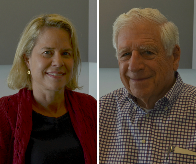 Marie Griffith, director of the Danforth Center on Religion and Politics at Washington University, and John Danforth, a former Republican U.S. Senator from Missouri.