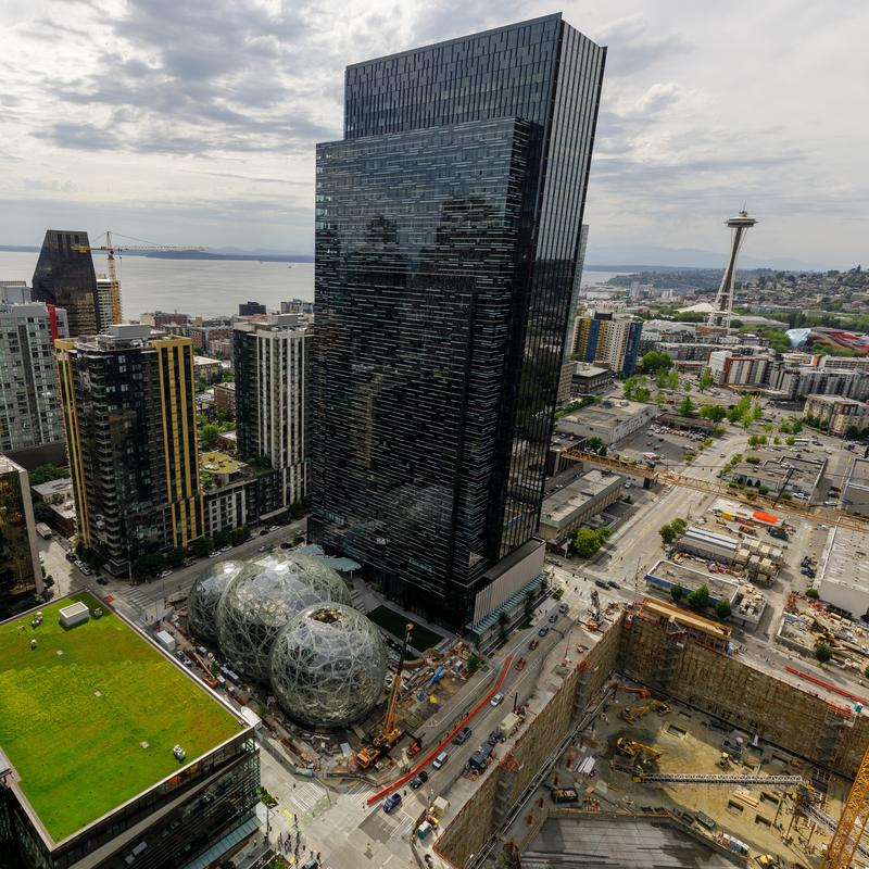 Amazon is searching for a second corporate headquarters to go along with its operation in Seattle. The current headquarters campus in that city includes 33 buidlings covering 8.1 million square feet.