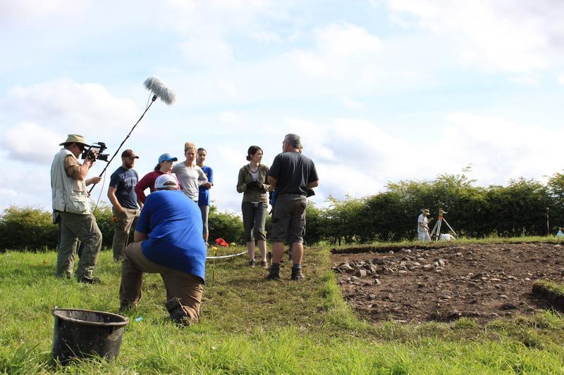 On the set of a documentary shot in Ireland in 2016, featuring SLU professor Thomas Finnan.