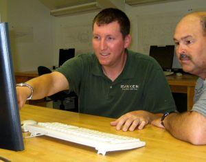 Rich Thyer (left) gets help from instructor Larry Sisson at Ranken Technical College on Finney Avenue in St. Louis