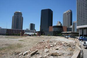 The Ballpark Village site, looking west 2008