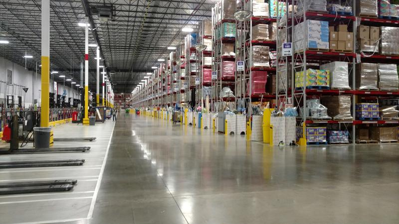 "Amazon's shipping operation, known as a ""wish fulfillment center,'' in Edwardsville."