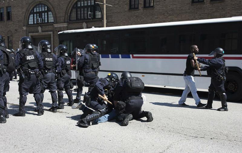 St. Louis police arrest a protester in September, 2017.