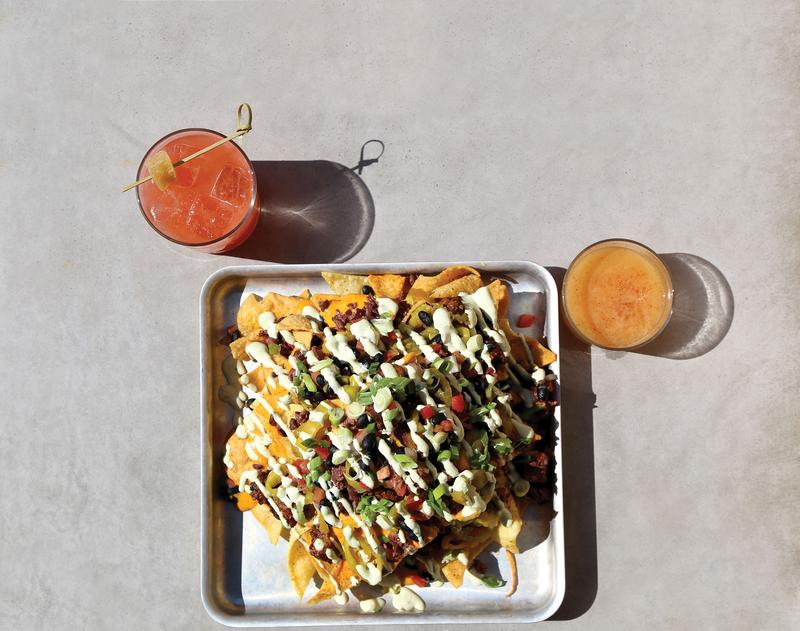 Burnt-end nachos at West Port Social, one of Sauce Magazine's picks for new spots to try in St. Louis in October.