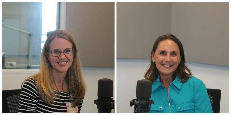 Dr. Andrea Hagemann (L) and Susan Robben (R) joined St. Louis on the Air host Don Marsh to talk about ovarian cancer.