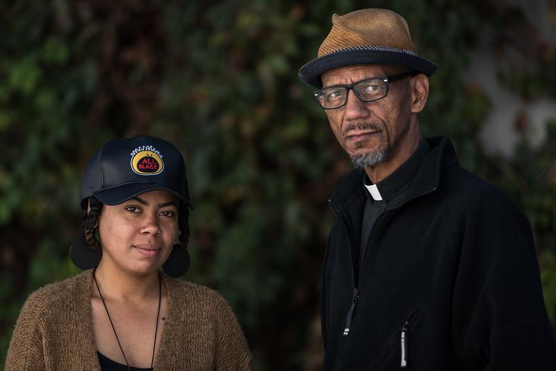 LaShell Eikerenkoetter and Rev. Darryl Gray have each been arrested during the Stockley protests.