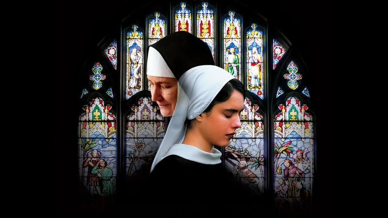 "Movie poster image. Melissa Leo and Margaret Qualley star in ""Novitiate,"" set to open in Los Angeles and New York Friday, Oct. 27."