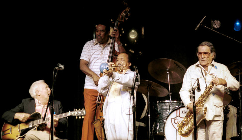 Herb Ellis (g) Ray Brown (b)-1987 (Snooky Young and Georgie Auld not heard)