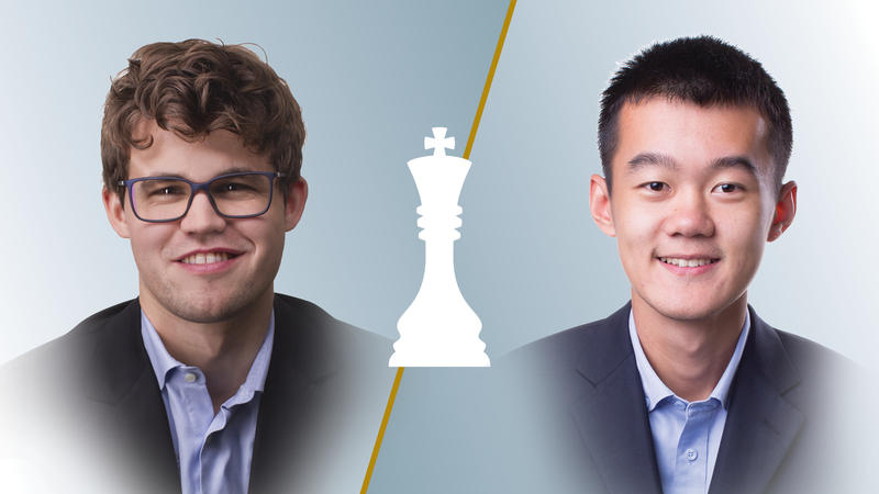 Magnus Carlsen (left) will face off against Ding Liren in the Champions Showdown. That match is just one of dozens of great pairings to watch.