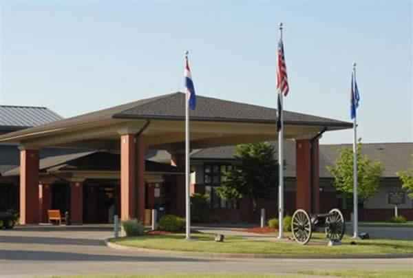 The St. Louis Veterans Home on Lewis and Clark Boulevard in St. Louis County.