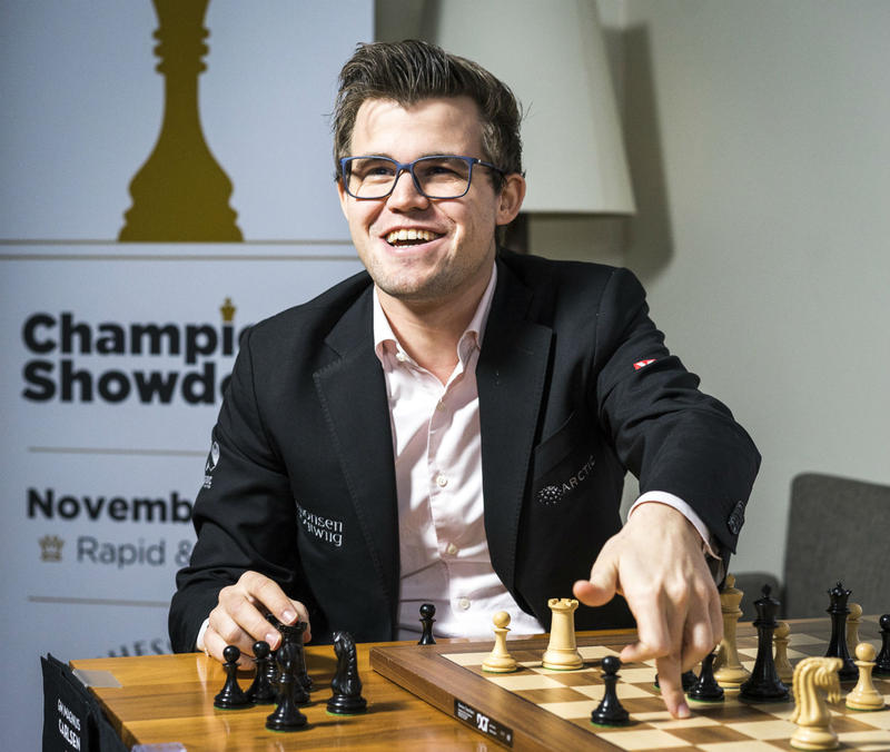 World Champion Magnus Carlsen at the Champions Showdown in St. Louis