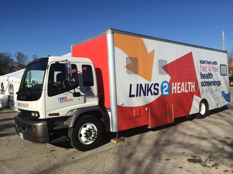 Links 2 Health, a mobile health screening unit, is providing services at four north St. Louis County Metro transit centers. December 1, 2017.