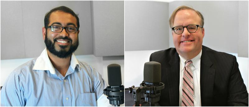 Faizan Syed (left) and Jim Hacking (right) discuss Trump's latest travel ban.