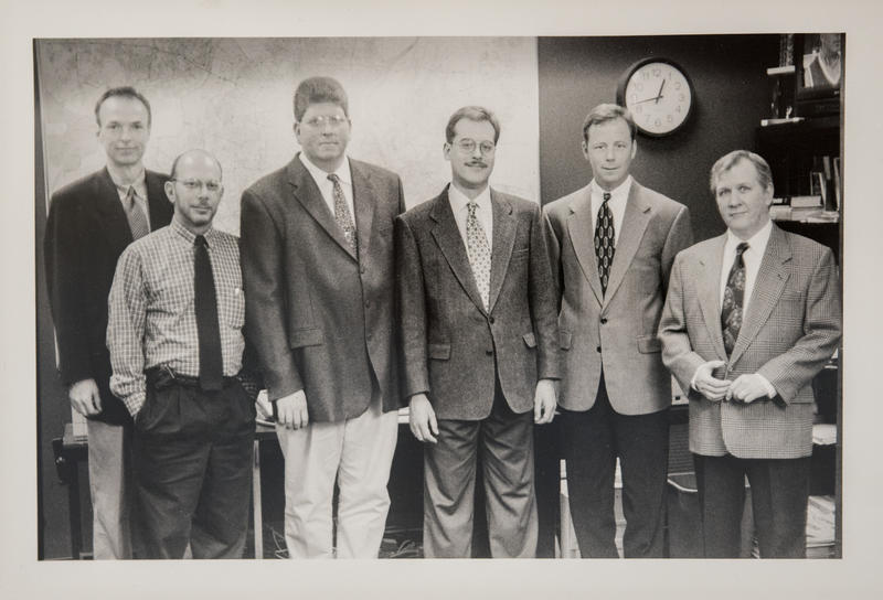 L-R Michael Sampson, Mark Manelli, Brett Blume, Kevin Lavery, Bill Raack, Bob McCabe, 1999