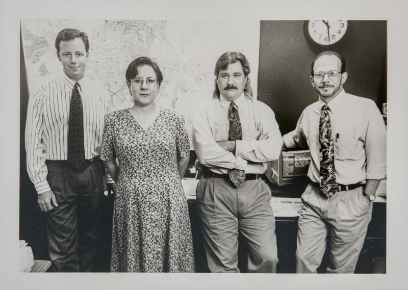 L-R Bill Raack, Andrea Murray, Lester Graham, Mark Manelli, 1995