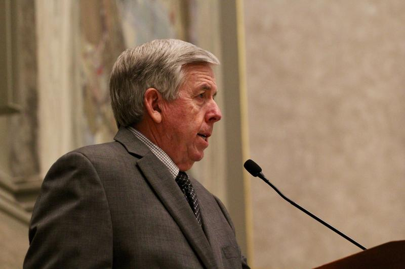 Lt. Gov. Mike Parson presides over the Missouri Senate in 2018.