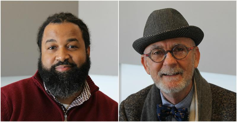 Tabari Coleman (left) and Stephen Zwolak (right) talk about their organizations' efforts to help children understand and respect other people's identities and differences.