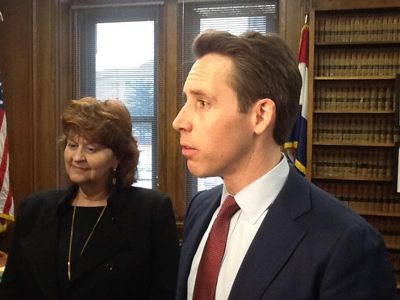 Jean Maneke, counsel to the Missouri Press Association, and Missouri Attorney General Josh Hawley on Monday discuss changes to the Sunshine Law. 1/22/18