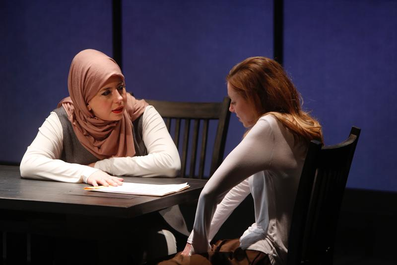Susaan Jamshidi portrays Muslim attorney, Claire, and Lindsay Stock portrays radicalzied Muslim, Susie.