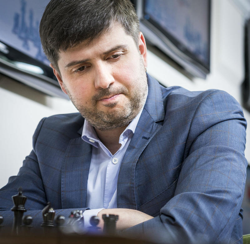 Grandmaster Peter Svidler contemplates a move.