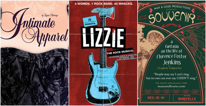 A selection of posters with the most production nominations for the 2018 St. Louis Theater Circle Award.