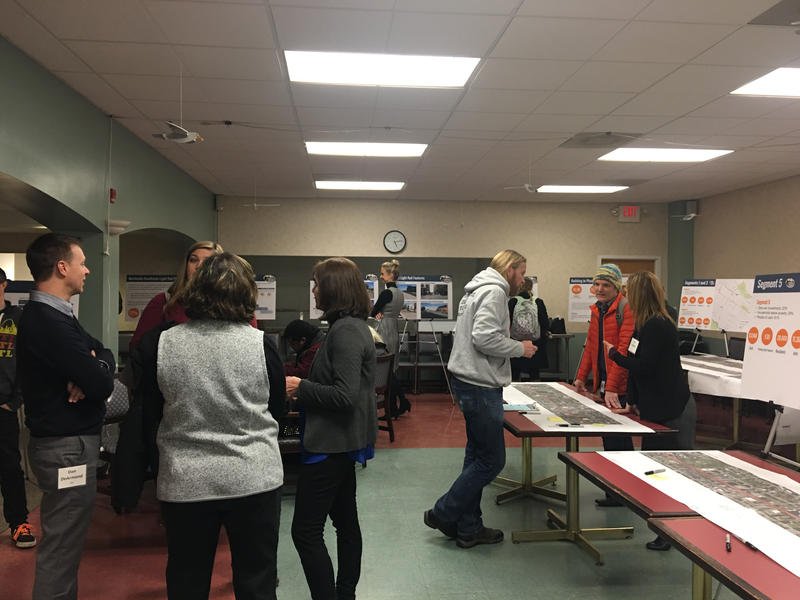 The Northside-Southside Consulting team presented the results of its ongoing study at the first of three open houses.