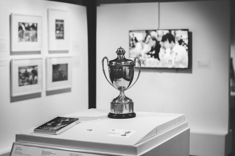 The Hamilton-Russell Cup is on display at the World Chess Hall of Fame. The American team gained possession of the trophy when it won the 2016 Chess Olympiad – for the first time in 40 years.