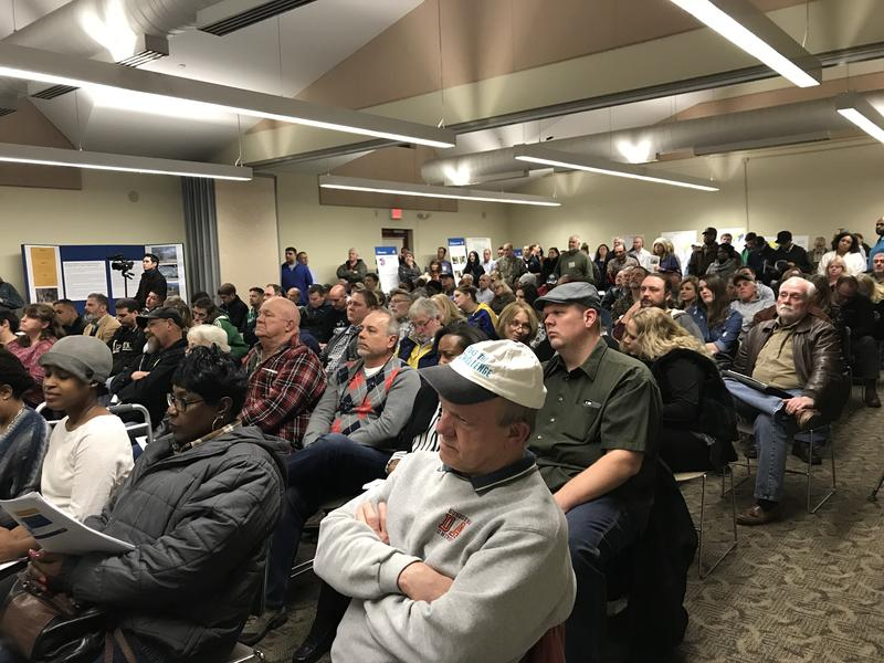 More than a hundred showed up to the St. Louis Army Corps of Engineers' annual meeting in February 2018 to update the public on efforts to remediate legacy nuclear waste along Coldwater Creek.