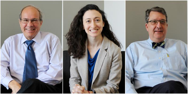 Legal experts (from left) William Freivogel, Rachel Sachs and Mark Smith comprised this month's panel.