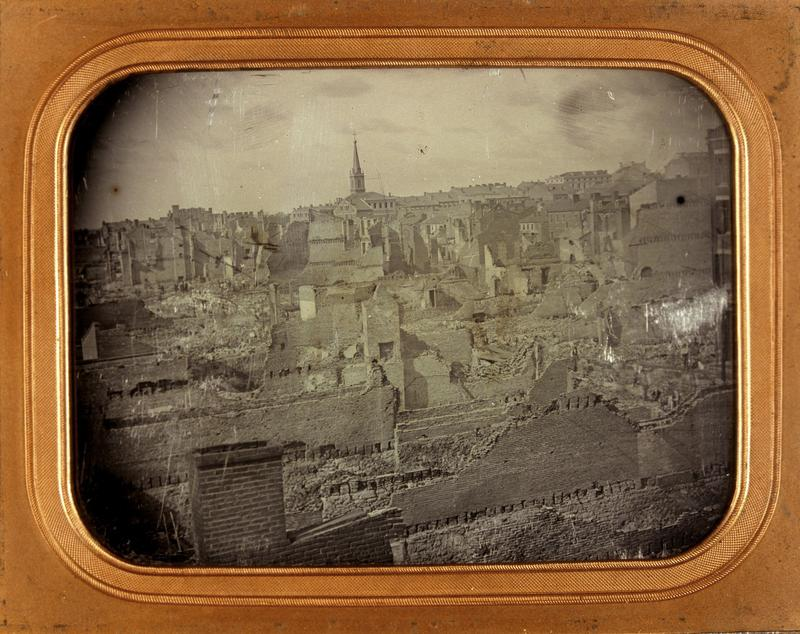 """Daguerreotypist Thomas Easterly created the only known photograph of the ruins of the city after the Great Fire."""