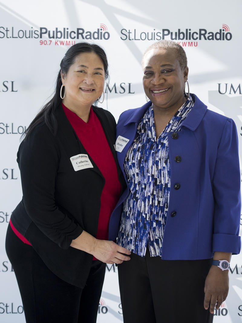 20 Year Members of St. Louis Public Radio Catherine Hwang Zahnial and Dorothea Scott attended an event to honor long-term donors. The event was held at UMSL at Grand Center on February 25, 2018.