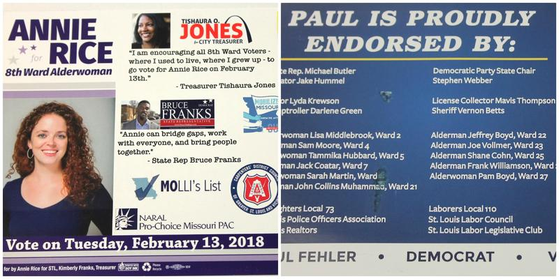 Both Annie Rice and Paul Fehler are touting their endorsements from Democratic party officials as the race for 8th Ward alderman enters its final days