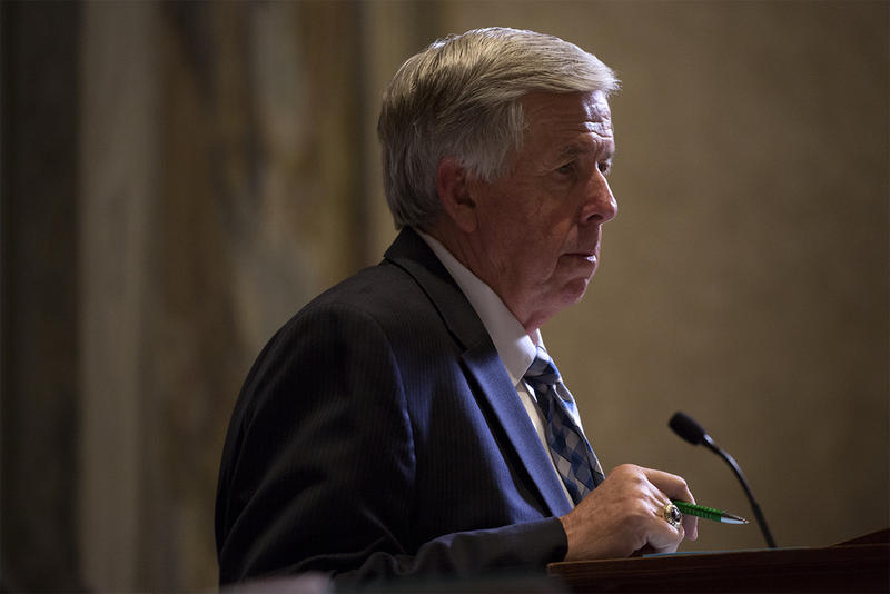 Republican Lt. Gov. Mike Parson would become governor if Eric Greitens left office.