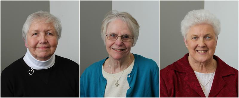 (L-R) Sisters Kathleen Hughes, Jackie Toben and Barbara McMullen discussed the history and work of the 15 orders of Catholic Sisters in the St. Louis region.