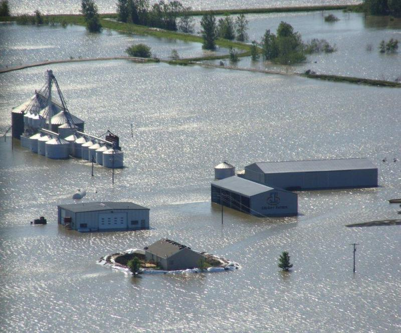 Roger Ideker's farm in St. Joseph, Mo. during the 2011 Missouri River flood. Ideker is the lead plaintiff in the suit against the corps.