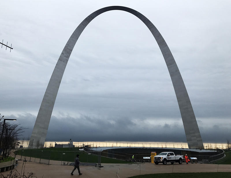 The new overpass makes the Arch grounds easier to access from 4th Street.